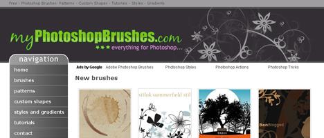 Photoshopのブラシやカスタムシェイプを大量に配布しているサイト