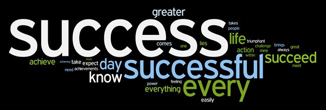 Success Affirmations wordle