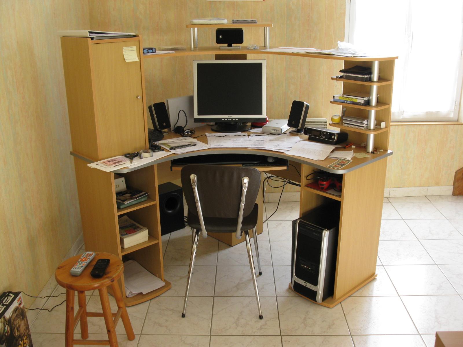 Caisson de bureau en bois avec roulettes Hauteur 52cm DALTON