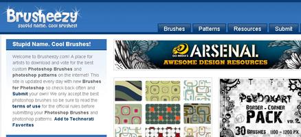 すごいデザインのブラシがダウンロードできるサイト