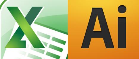Illustrator(イラストレーター)で表組を作成する際の(Excel)エクセルの活用法