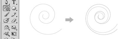 おまけ:スパイラルツールを使ってツタを描く方法