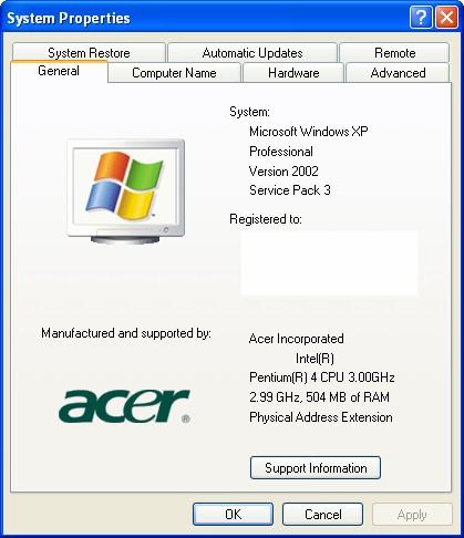 Computer Spec