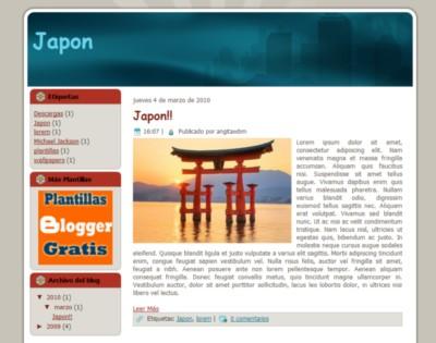 Plantilla Japón para Blogger Gratis