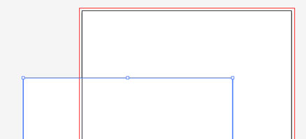 長方形ツールよりA4サイズ設定