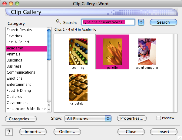 clip art microsoft word mac - photo #26