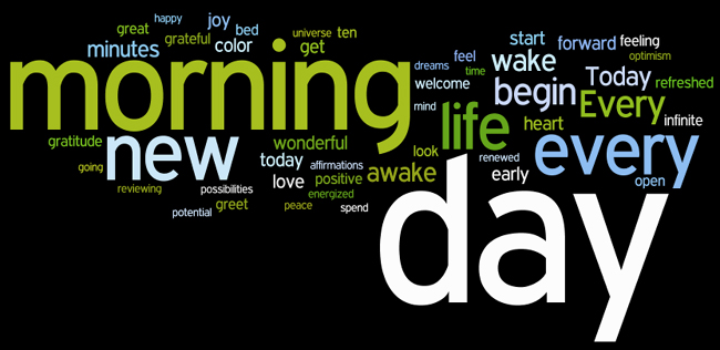 morning affirmations wordle