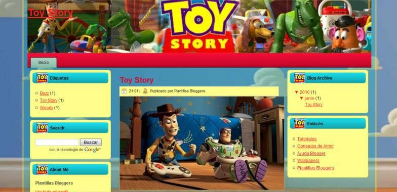 Plantilla para blogger de Toy Story