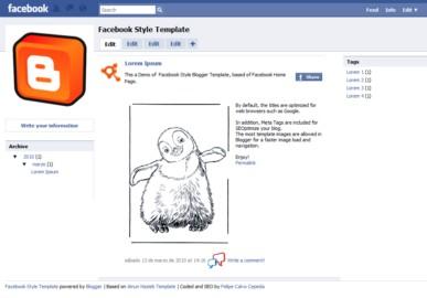 plantilla de facebook para blogger