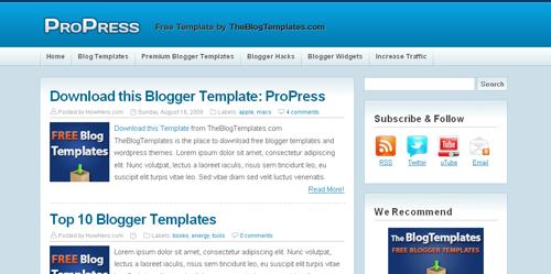 ProPress Plantilla para blogger gratis