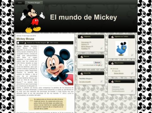 Plantilla El Mundo de Mickey para Blogger