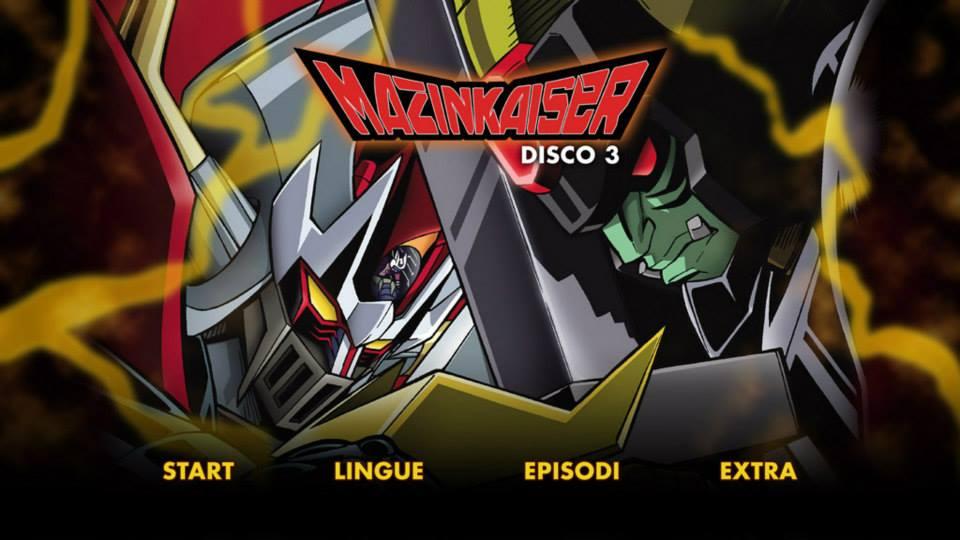mazinkaiser dvd menu