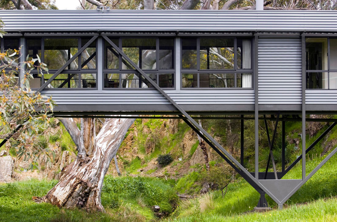Bridge-House, Architecture, Design, House, Interiors