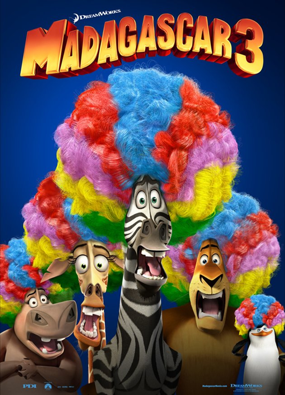 Madagascar 3 locandina