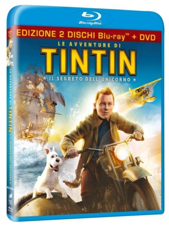 Avventure di Tintin blu-ray cover dvd