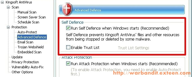 Kingsoft Self Protection