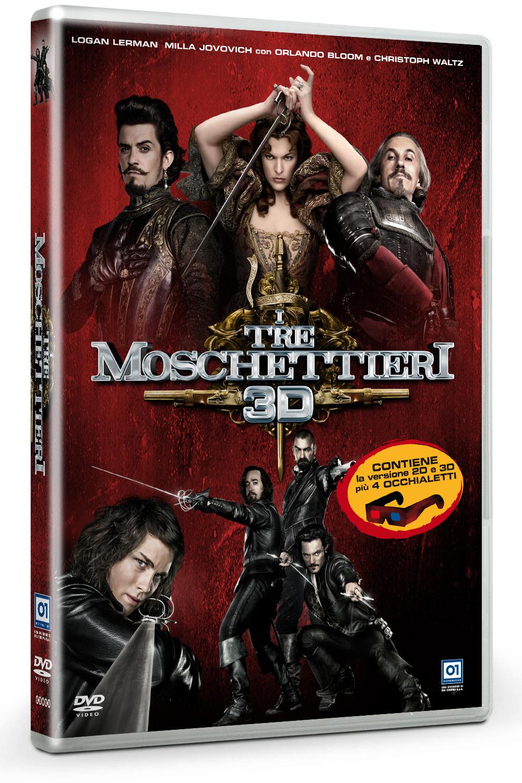 Tre moschettieri 3D, DVD